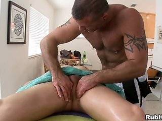 Parker London And Trace Michaels Fuck Doggy Style After Massage
