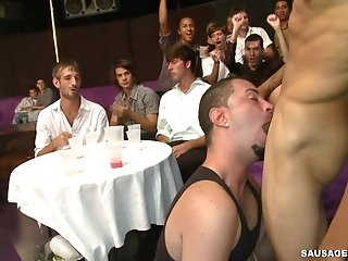 Some Drunk Homos Show Their Cock-sucking Talents At A Party